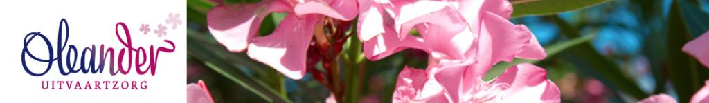 Logo en bloemen oleander uitvaartbegeleiding
