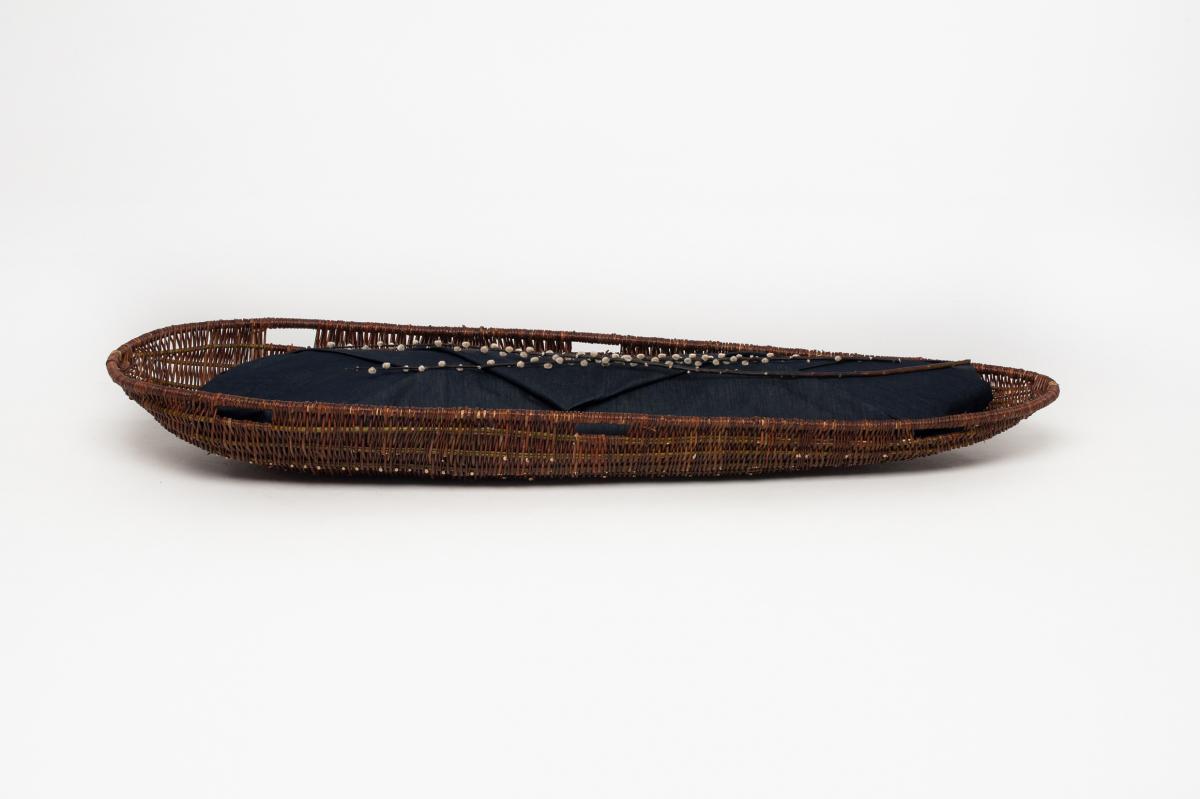 Spijkerstof lijkwade - Schaal draagbaar - Wikkelgoed 1